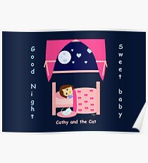 Cathy and the Cat - Good Night Poster