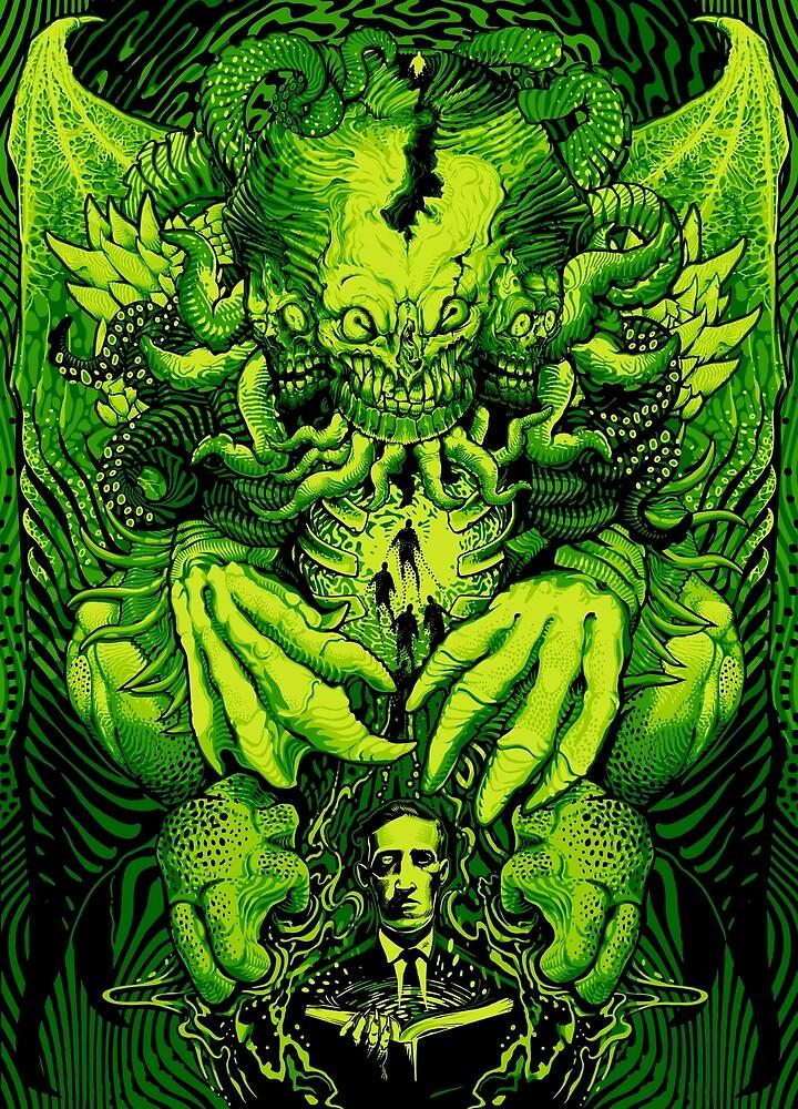 Lovecraft Cthulhu III by jimiyo