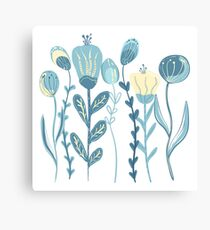Abstract flowers background Canvas Print