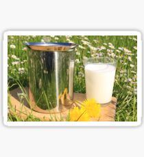 glass milk Sticker
