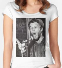 Tom Waits Live performance Women's Fitted Scoop T-Shirt