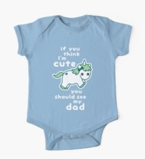Funny Unicorn for Dad One Piece - Short Sleeve