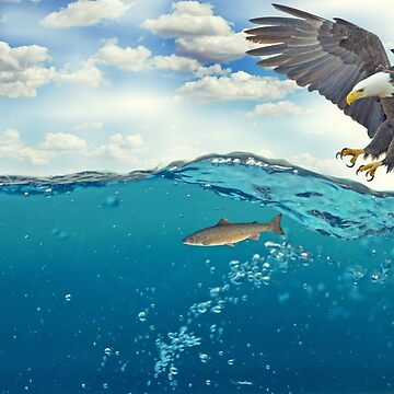 Eagle and Fish Hunting Design by lordoftime39