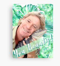 "Steve Irwin ""Du Schönheit"" Metallbild"