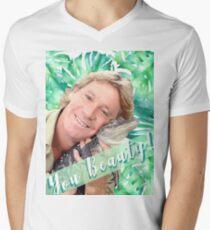 """Steve Irwin """"You Beauty"""" Men's V-Neck T-Shirt"""