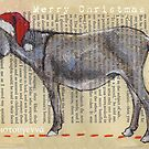 Donkey Christmas card by Michele Meister