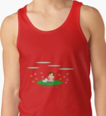 Cathy and the Cat and Flowes Tank Top