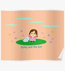 Cathy and the Cat and Flowes Poster
