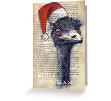 Emu Christmas Card Greeting Card