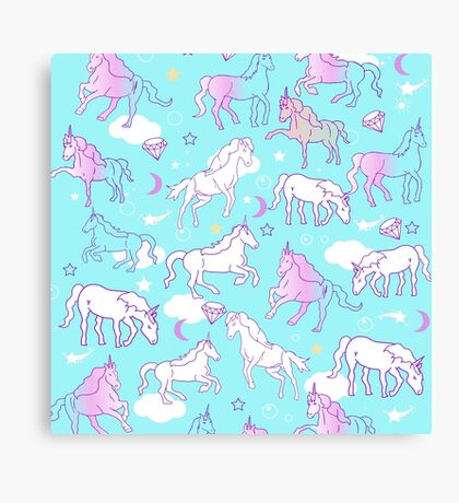 Sky Unicorns Canvas Print