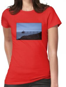 The Clevedon Pier in the Evening Womens Fitted T-Shirt