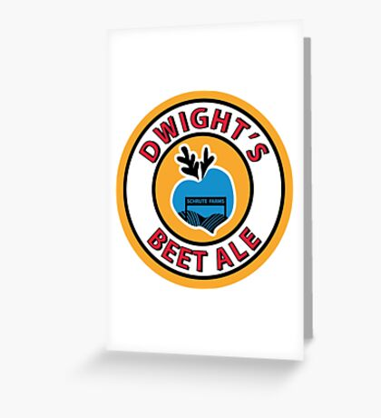 Dwight's Beet Ale. Greeting Card