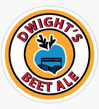 Dwight's Beet Ale. Sticker
