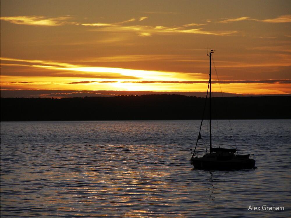 Largs Sunset by Alex Graham