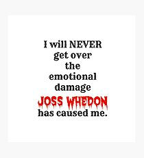 Joss Whedon Photographic Print