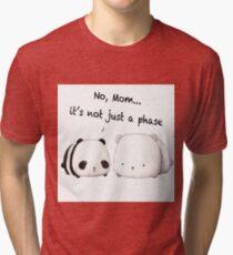 Emo Panda Tri-blend T-Shirt