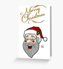Santa - Merry Christmas Greeting Card