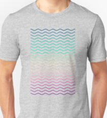 Abstract Geometric  Candy / Rainbow Waves Pattern (Multi Color) Unisex T-Shirt
