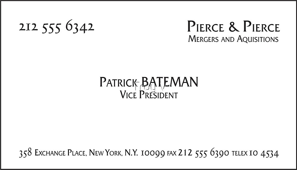 Patrick Bateman Business Card