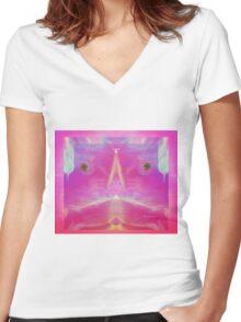 Little Girl of Peace Love Pray Women's Fitted V-Neck T-Shirt
