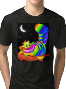 Psychedelic Cheshire Cat  Tri-blend T-Shirt