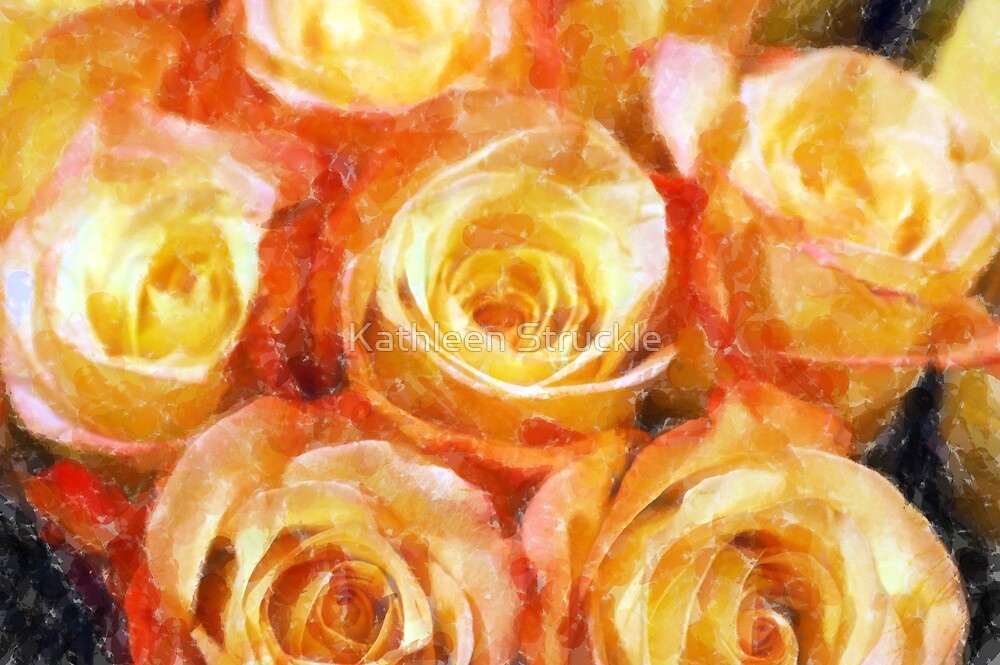Swirl Roses by Kathleen Struckle