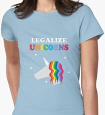 Legalize Unicorns Women's Fitted T-Shirt