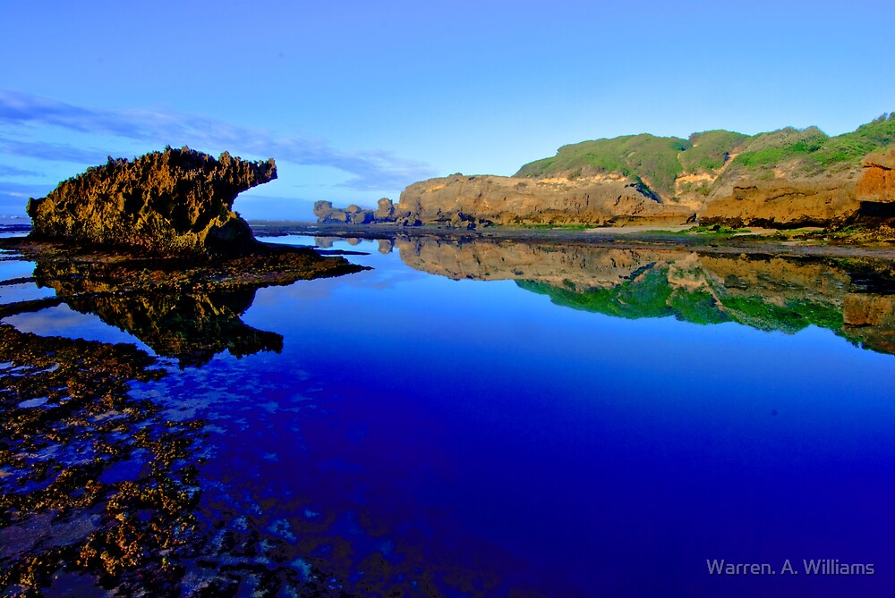 Blue Reflections     version 2 by Warren. A. Williams