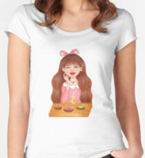 I Love Sweet Desserts Women's Fitted Scoop T-Shirt