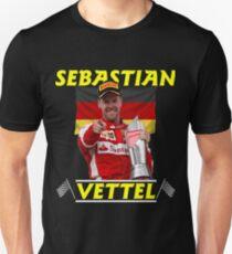 Sebastian Vettel F1 Pilot. Unisex T-Shirt