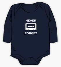 Never Forget Retro Cassette  One Piece - Long Sleeve
