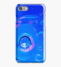 Refreshing Blue Bubbles #2 iPhone Case/Skin