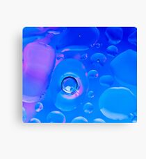 Refreshing Blue Bubbles #2 Canvas Print