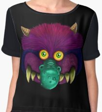 Monster (black background) Chiffon Top