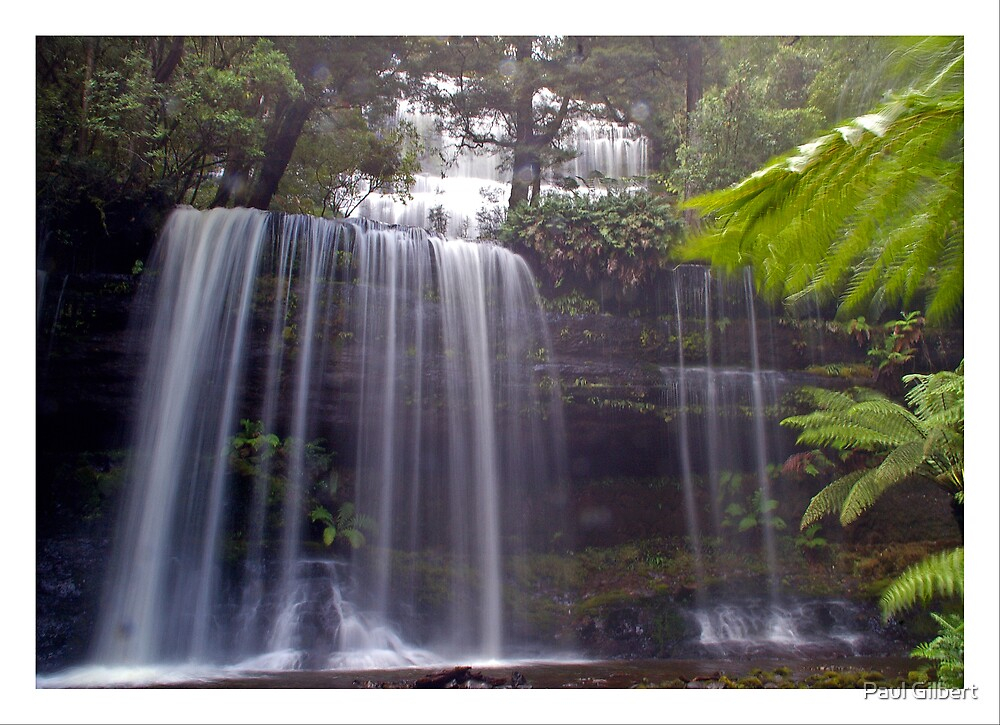 Waterfall in the rain by Paul Gilbert