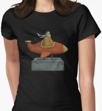 Road to Nowhere - Triptych Panel No. 3 Womens Fitted T-Shirt