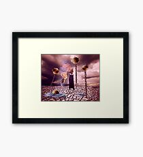My Ocean is Dry But the Mines Are Still Armed Framed Print