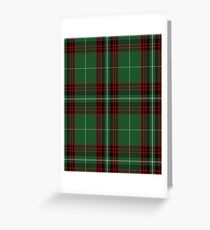 Kiernan Clan/Family Tartan  Greeting Card