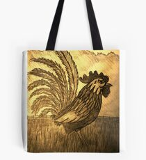 ROOSTER IN THE GRASS Tote Bag