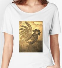ROOSTER IN THE GRASS Women's Relaxed Fit T-Shirt