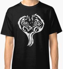 Tribal Wolves Heart - version 2 - white Classic T-Shirt