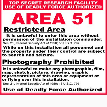 area 51 sign by DonCox