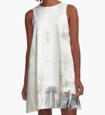 gray and cream A-Line Dress