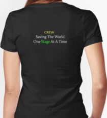 Crew - Saving The World One Stage At A Time Women's Fitted V-Neck T-Shirt