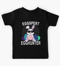 Eggspert Egg Hunter Bunny Kids Tee