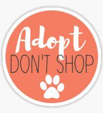 Adopt Don't Shop - Peach Sticker