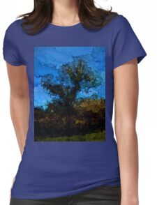 Tree under the Blue Sky Womens Fitted T-Shirt