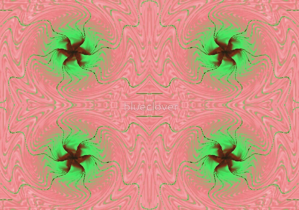 Pink and Green Swirls by blueclover