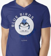 Blue Birds on Third Men's V-Neck T-Shirt