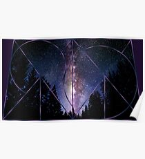 Trapezoidal Night Sky Poster